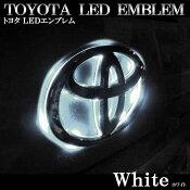 トヨタヴェルファイア用LEDエンブレムホワイト