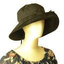 きゃら(Cara) オリジナルハット シルクキャプリーヌ ブラック タイシルク100% 帽子 シルクのコサージュつき