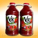おいしく手軽に野菜を取れる!【V8】100%ベジタブルジューストマト&野菜 1.89L×2本トマトジ...