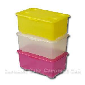 在庫一掃セール【IKEAイケア】GLISふた付きボックス 3 ピース ピンク・ホワイト・イエロー05P04Jul15