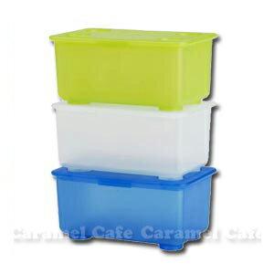 在庫一掃セール【IKEAイケア】GLISふた付きボックス 3 ピース ホワイト・ライトグリーン・ブルー05P04Jul15