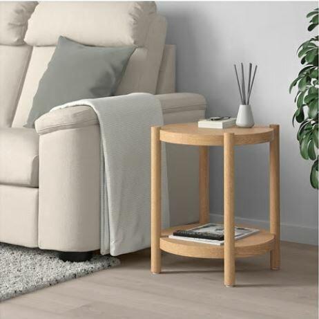 【送料無料】【IKEAイケア】LISTERBY リステルビーサイドテーブル ホワイトステイン オーク