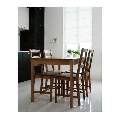 【送料無料】【IKEAイケア】JOKKMOKK テーブル&チェア4脚 アンティークステインダイニングテーブルリビングにヨックモック食卓木製