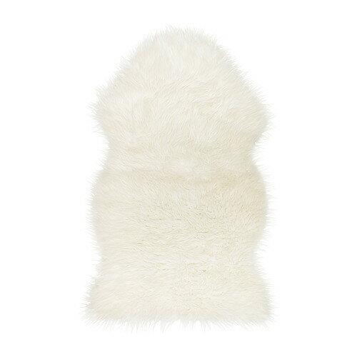 ★送料無料【IKEAイケア】TEJN フェイクシープスキン 【ホワイト】雪に見立ててツリーの足元に!