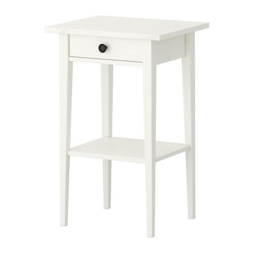 【送料無料】【IKEAイケア】HEMNES ベッドサイドテーブル 46x35cm【ホワイトステイン】