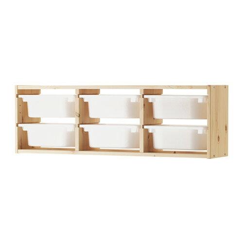 【送料無料】【IKEAイケア】トロファスト 子供用家具TROFASTウォール収納,パイン材,ホワイト(09102315)W-WSS6
