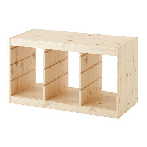 【送料無料】【IKEAイケア】トロファスト 子供用家具TROFASTフレーム,横型木製 パイン無垢材PY(30368836)夢の子供部屋おもちゃ収納