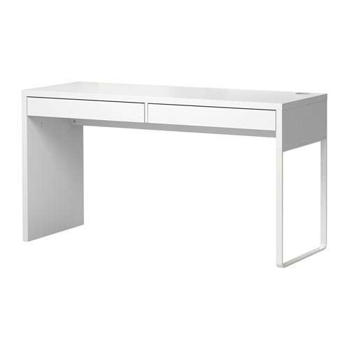 【送料無料】【IKEAイケア】MICKEミッケ デスク ホワイト142×50×75cm 二人用机 便利シンプル 引き出しつきオフィス机パソコンデスクの写真