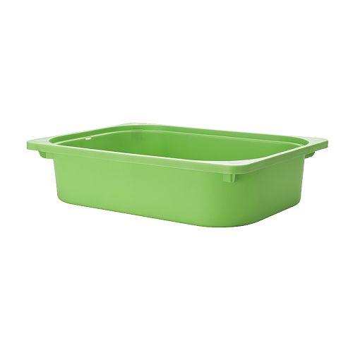 【IKEAイケア】トロファスト 子供用家具TROFAST収納ボックス, グリーン(00141670)高さ10cmBOX-S-Gの写真