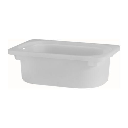 【IKEAイケア】トロファスト 子供用家具TROFAST収納ボックス, ホワイト SSw 20×30×10高さ10cm(60169312)