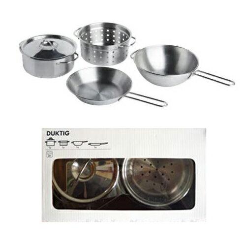 【IKEAイケア】DUKTIG・お鍋 調理器具4点セット本格おままごとキッチンツール!