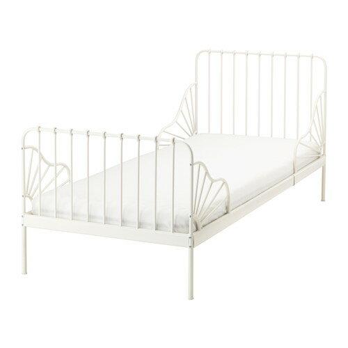 送料無料 IKEA イケア MINNEN 伸長式ベッドフレームとすのこ(組み合わせ) ホワイト 成長に合わせて長く使える!の写真