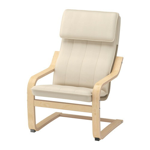【送料無料】IKEA イケア POANG ポエング 子供用アームチェア バーチ材突き板 アルモース ベージュ
