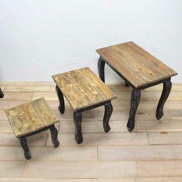 古材家具 おしゃれな猫足テーブル 机 Sサイズ H28×W29