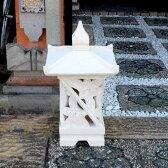 石の灯篭 石像 石彫り 照明 ライト 門灯 庭園灯 60cm バリ島 パラス石 石像 ストーンオブジェ バリ風 リゾート風 ガーデン