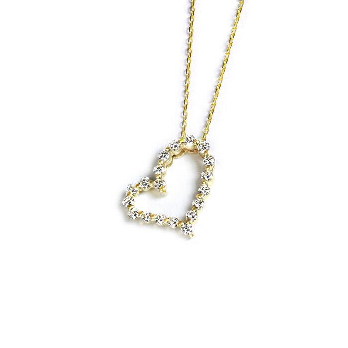 K18ダイヤモンド0.55ctハートペンダント(Freyja)(18金、18k製)(pd2152):ジュエリー専門店Carat