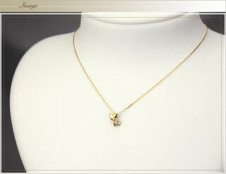 K18ダイヤモンドペンダント(ダブルハート)(18k、18金製)(pd2574)