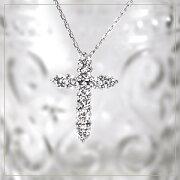 プラチナ ダイヤモンドクロスペンダント
