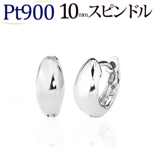プラチナ中折れ式フープピアス(10mmスピンドル、日本製)(sad10pt-yk)