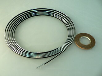 Multi-lacing braid 4mm width chrome (4m winding)