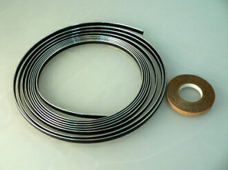 Lacing braid 7mm width chrome (4m winding) for motorcycles