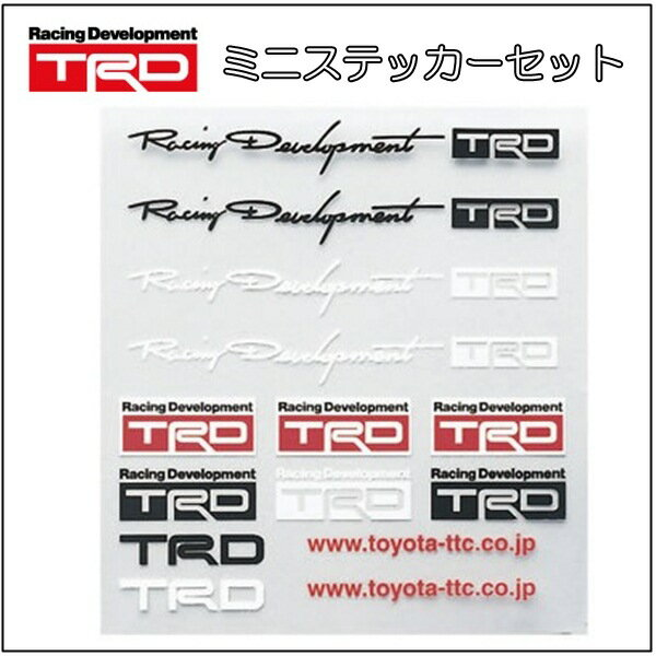 TRD collection mini sticker SET