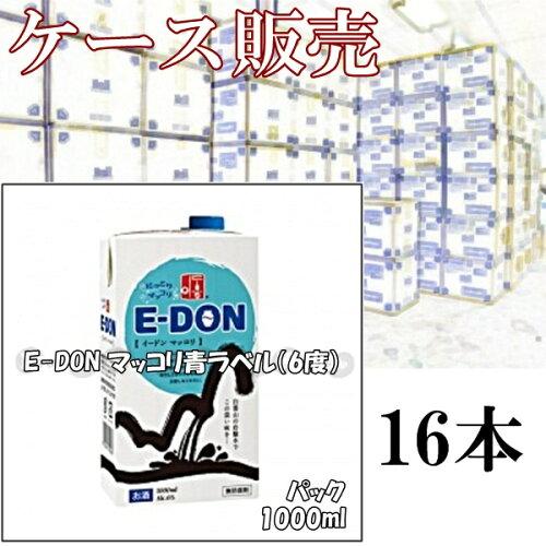 紙パック 『E-DON マッコリ 6度 1000mlx16パック』 お酒 ケース セット 韓国 韓流 ...