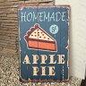 【在庫処分】 ブリキ 看板 クラシック Classic アップルパイ apple pie homemade サインボード お洒落 おしゃれ JPN ジェーピーエヌ JQ-KZCYJJ07