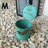 【送料無料】 在庫処分 ブリキ缶 アンティーク Mサイズ 雑貨 ガーデニング Gardening 鉢 プランター planter 可愛い お洒落 カワイイ オシャレ JPN ジェーピーエヌ JQ-KZFZ01GR-M 1000R