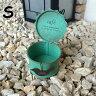 【送料無料】 在庫処分 ブリキ缶 アンティーク Sサイズ 雑貨 ガーデニング Gardening 鉢 プランター planter 可愛い お洒落 カワイイ オシャレ JPN ジェーピーエヌ JQ-KZFZ01GR-S 1000R お買い物マラソン