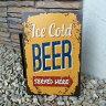 【在庫処分】 ブリキ 看板 クラシック Classic ビール BEER 居酒屋 飲み屋 サインボード お洒落 おしゃれ JPN ジェーピーエヌ JQ-KZLBH5423 1000R