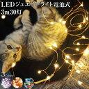 ジュエリーライト 3m 30灯 電池式 全3色 FW-LED...