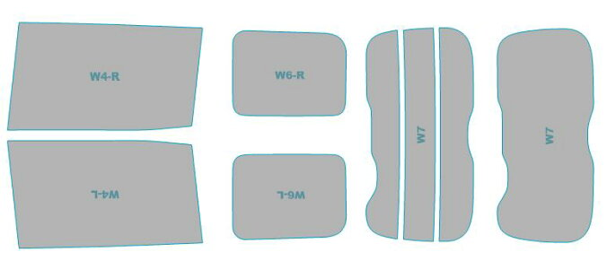 カーフィルムカット済み断熱スモークトヨタエスクァイア【ZRR80G型/ZRR85G型】年式H26.10-H27.12車検対応業務用スモークフィルムウインドウフィルム