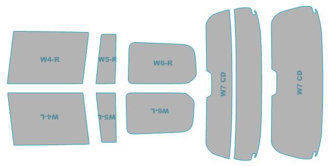 カーフィルム カット済み 断熱スモーク トヨタ プロボックス ハイブリッド 【NHP160V型】