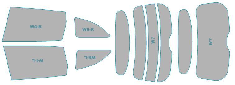 カーフィルムカット済み断熱スモークホンダジェイド【FR5型】年式H27.5-H30.4車用品バイク用品車用品アクセサリー日除け用品カーフィルム