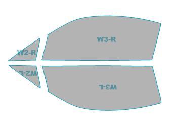 ゴーストカーフィルム透過率79%運転席助手席カーフィルムカット済みスバルBRZ【ZC6型】年式H24.3-H28.7ゴーストオーロラフィルム