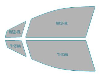 ゴーストカーフィルム透過率79%運転席助手席カーフィルムカット済みスバルレヴォーグLevorg【VM4型/VMG型】年式H29.8-ゴーストオーロラフィルム