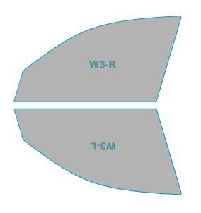 ゴーストカーフィルム透過率79%運転席助手席カーフィルムカット済みスバルエクシーガ【YAM型/YA5型】年式H24.7-H27.3ゴーストオーロラフィルム