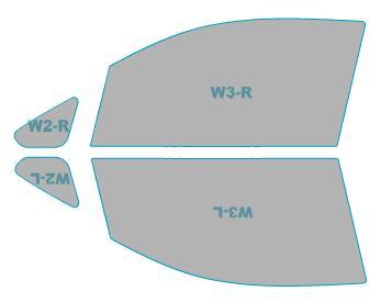 ゴーストカーフィルム透過率79%運転席助手席カーフィルムカット済みスバルステラカスタム【LA110F型】年式H25.1-H26.11ゴーストオーロラフィルム