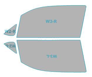 ゴーストカーフィルム透過率79%運転席助手席カーフィルムカット済みスバルステラカスタム【LA150F型/LA160F型】年式H29.8-ゴーストオーロラフィルム