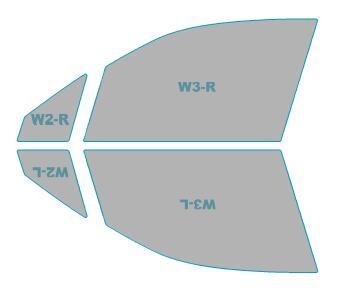 ゴーストカーフィルム透過率79%運転席助手席カーフィルムカット済みスバルフォレスター【SJG型】年式H27.11-H29.3ゴーストオーロラフィルム