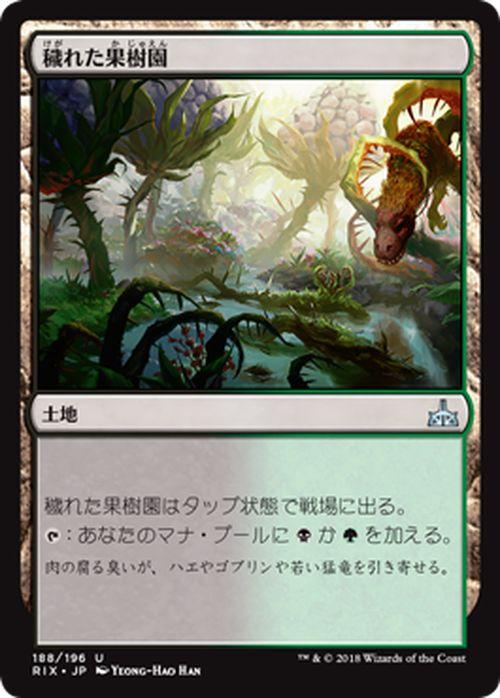 マジック:ザ・ギャザリング 穢れた果樹園 イクサランの相克 RIX | ギャザ MTG マジック・ザ・ギャザリング 日本語版 土地 イクサラン・ブロック