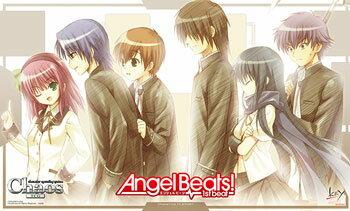 ChaosTCG Angel Beats!-1st beat- 特製プレイマット エンジェルビーツ key   カオスTCG プレマ画像