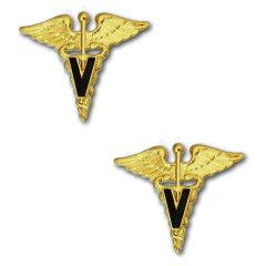 アメリカ陸軍 兵科章 - 獣医科 サービスドレス襟用