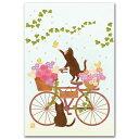 ポストカードと和雑貨の和道楽で買える「デジタル貼り絵・ナチュラルイラストポストカード「春爛漫」」の画像です。価格は162円になります。