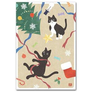 猫のイラスト「クリスマスねこ」クリスマスカード