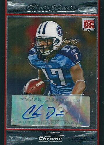 トレーディングカード・テレカ, トレーディングカード  NFL Chris Davis 2007 Bowman Chrome Rookie Autographs