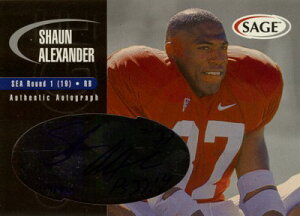 ショーン・アレキサンダー Shaun Alexander 2000 SAGE Autographed Autograph Silver 400枚限定!