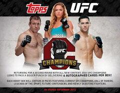 (予約)2015 Topps UFC Champions ボックス (Box) 送料無料、9/2入荷予定!格闘技カード