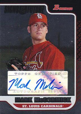 トレーディングカード・テレカ, トレーディングカード Mark McCormick 2006 Bowman Draft Signs of the Future